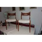 Vintage retro 2 design eetkamerstoelen fifties sixties for Paarse eetkamerstoelen