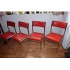 Vintage retro 4 design eetkamerstoelen fifties sixties for Paarse eetkamerstoelen