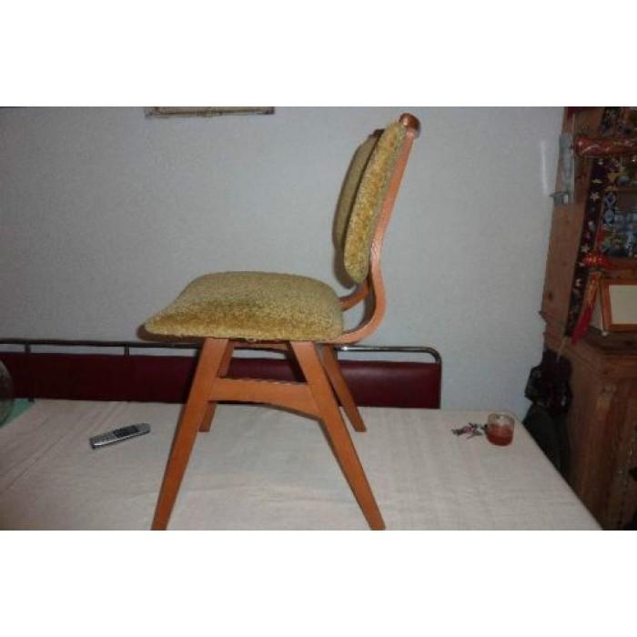 Vintage Deens Design Leren Fauteuil Met Hockerlounge Chair Kofod ...
